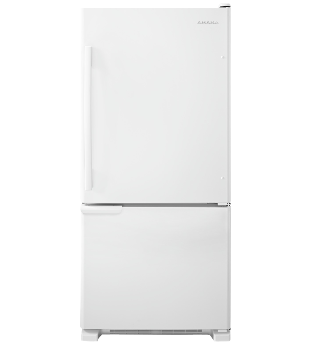 Amana Refrigerator 30 ABB1921BR in White color showcased by Corbeil Electro Store