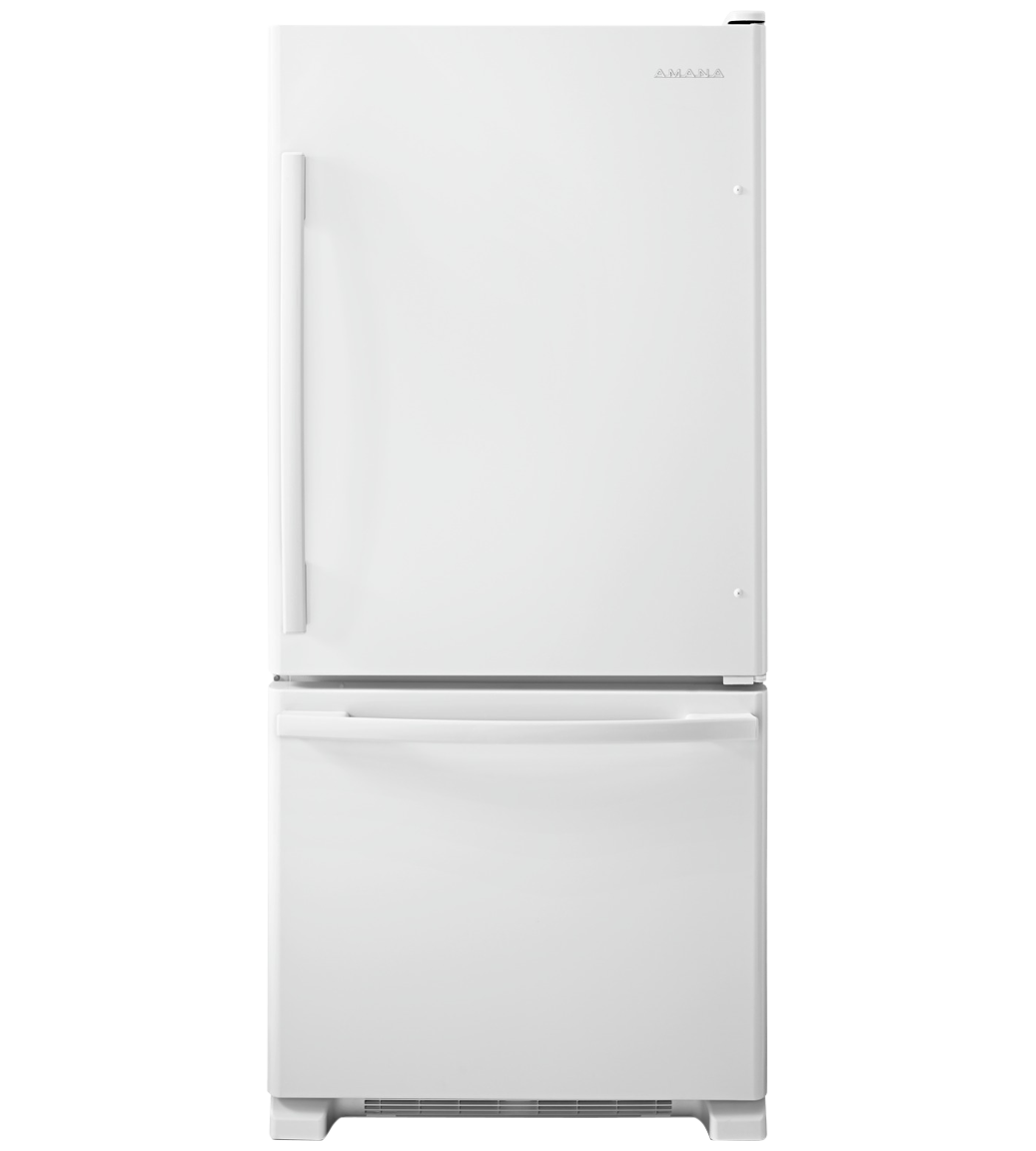 Amana Refrigerator 30 ABB1924BR in White color showcased by Corbeil Electro Store