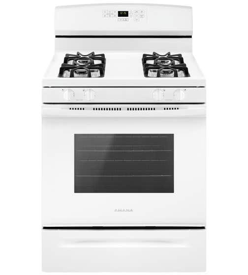 Amana Cuisiniere 30 AGR6603SF en couleur Blanc présenté par Corbeil Electro Store