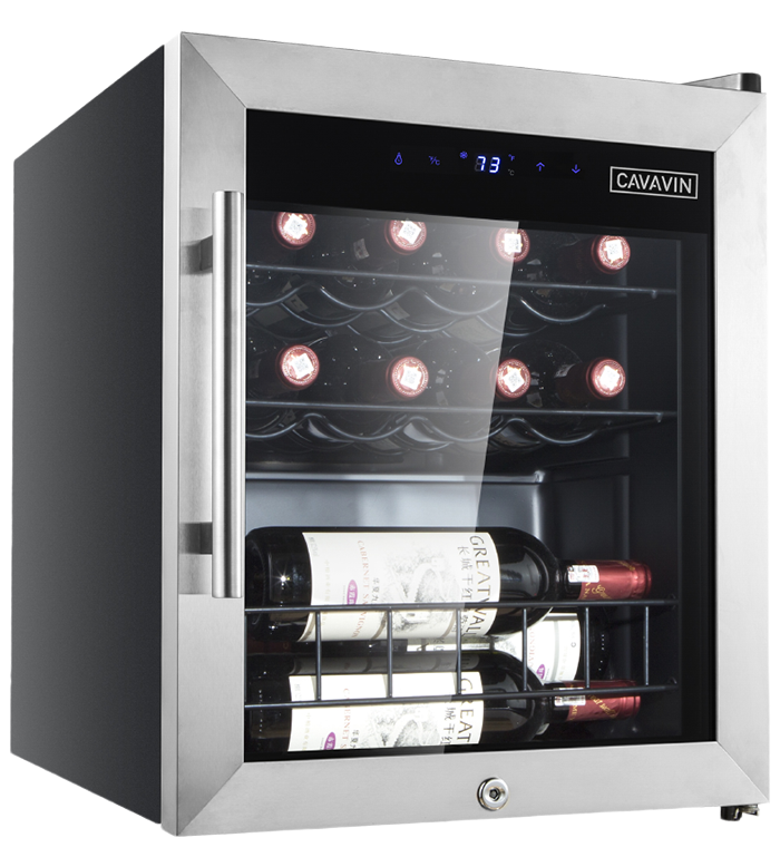 Cavavin Specialized refrigeration 17inch in Stainless Steel color showcased by Corbeil Electro Store