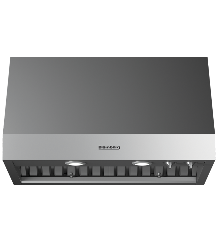 Blomberg Rangehood 30inch in Stainless Steel color showcased by Corbeil Electro Store