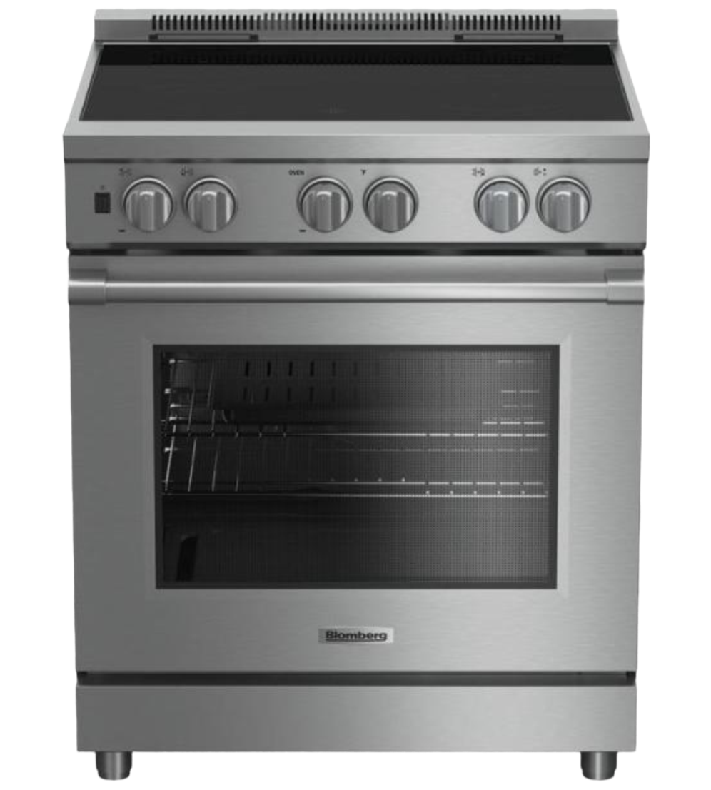Blomberg Range 30inch in Stainless Steel color showcased by Corbeil Electro Store