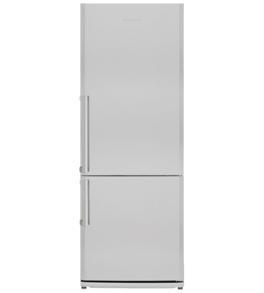 Blomberg Fridge 28inch in Stainless Steel color showcased by Corbeil Electro Store