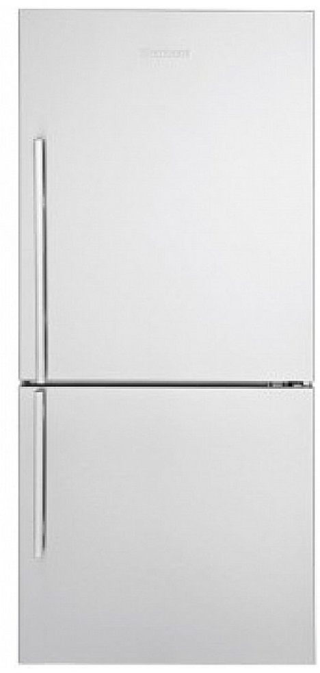 Blomberg Fridge 30inch in Stainless Steel color showcased by Corbeil Electro Store
