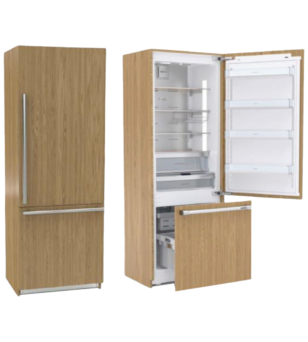 Blomberg Fridge 30inch in Cream color showcased by Corbeil Electro Store