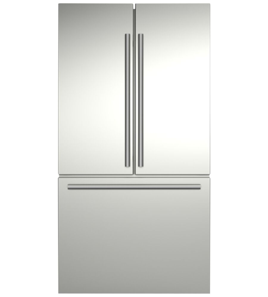 Blomberg Fridge in Stainless Steel color showcased by Corbeil Electro Store