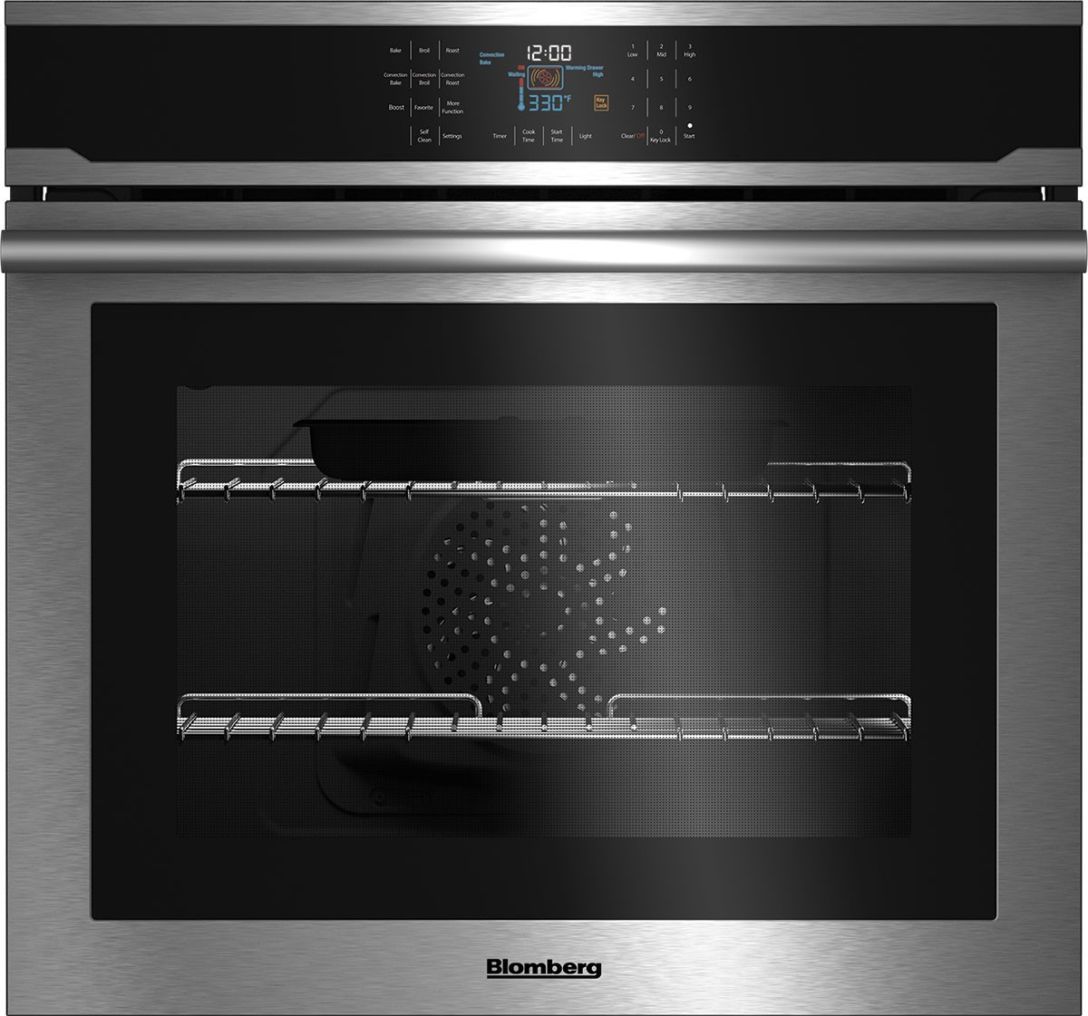 Blomberg Oven 30inch in Stainless Steel color showcased by Corbeil Electro Store