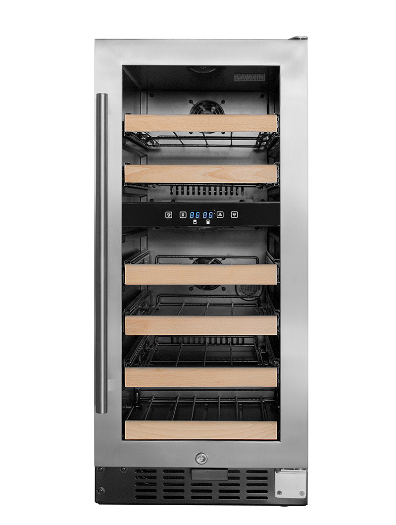 Cavavin Specialized refrigeration 15inch in Stainless Steel color showcased by Corbeil Electro Store