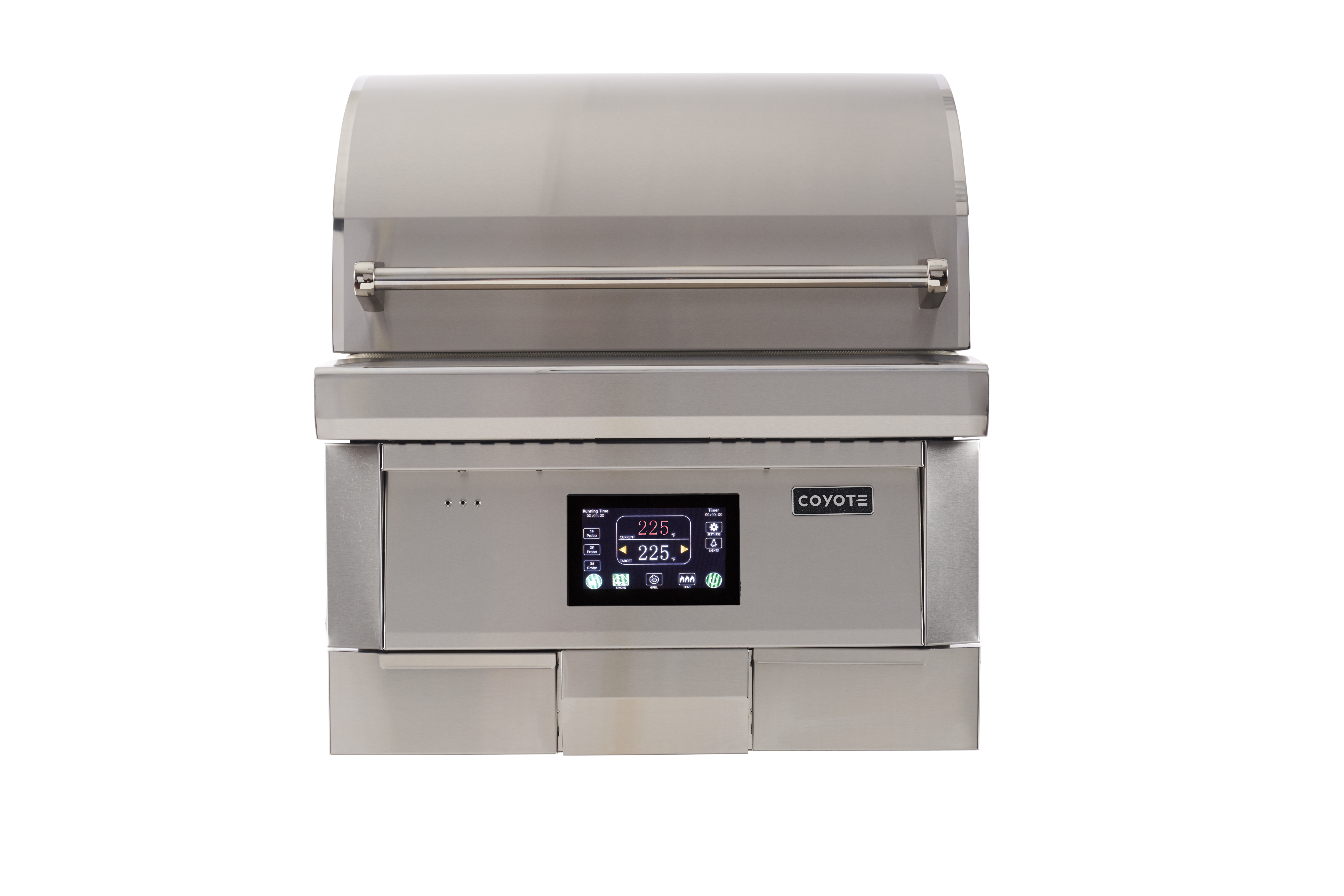 Coyote BBQ C1P28 in Stainless Steel color showcased by Corbeil Electro Store