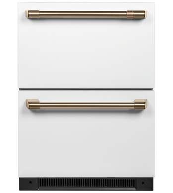 GE CAFE dualDrawer Réfrigérateur en couleur Blanc présenté par Corbeil Electro Store