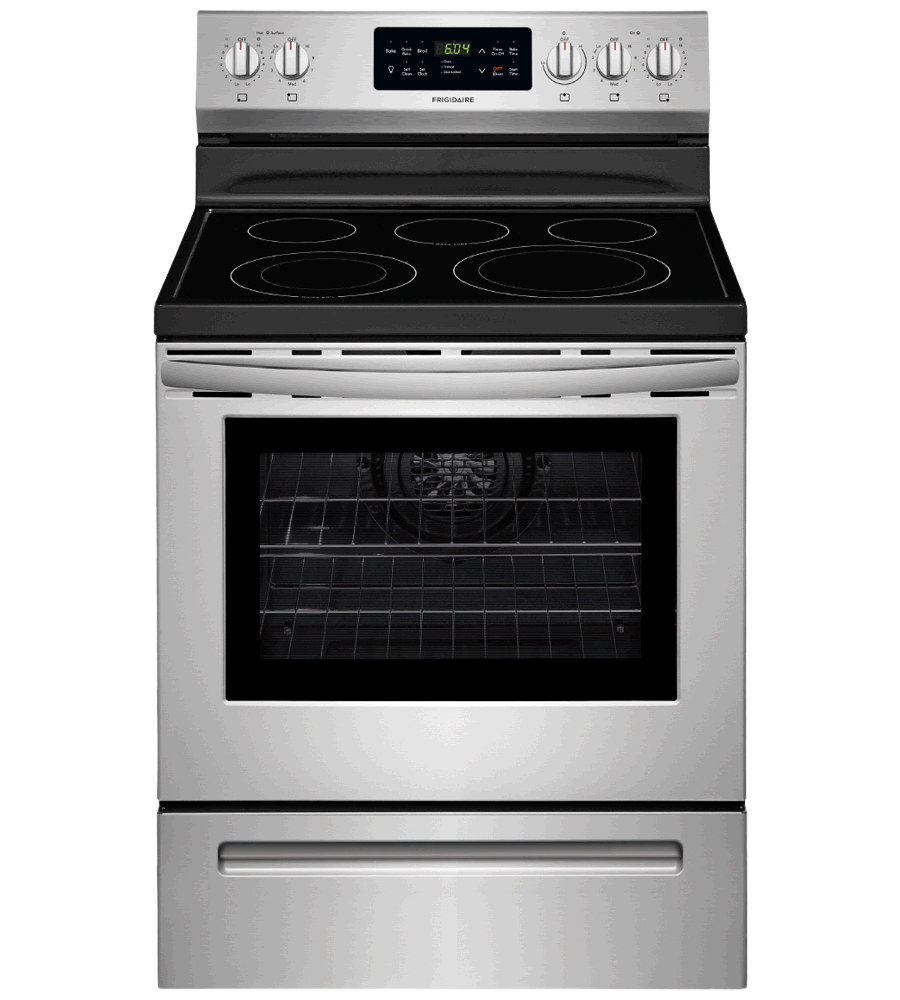 Frigidaire Range 30 CFEF3056U in Stainless Steel color showcased by Corbeil Electro Store