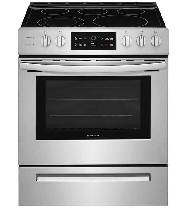 Frigidaire Range 30 StainlessSteel CFEH3054US in Stainless Steel color showcased by Corbeil Electro Store