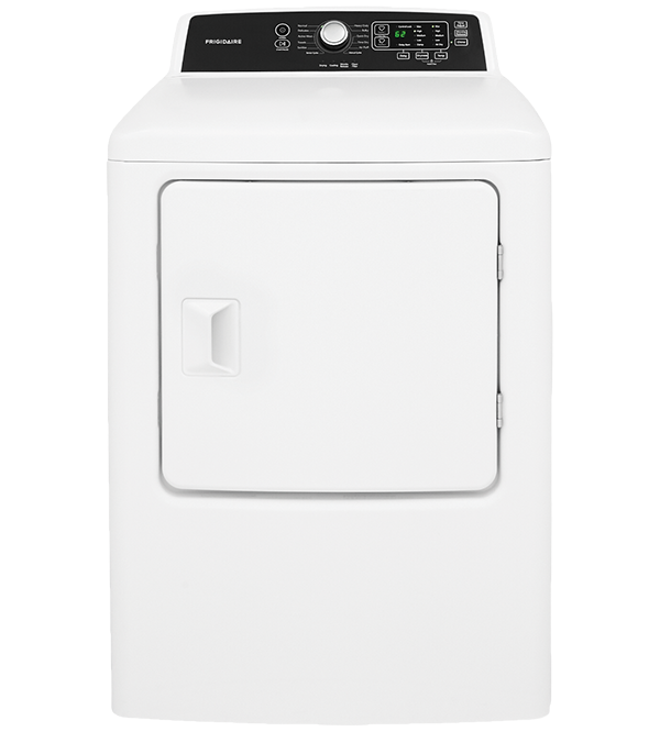Frigidaire Dryer in White color showcased by Corbeil Electro Store