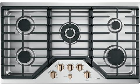 GE Café Cooktop 36 Stainless Steel in Stainless Steel color showcased by Corbeil Electro Store