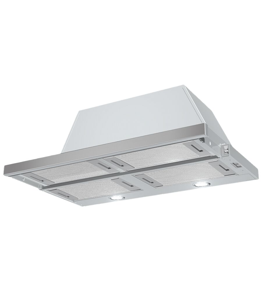 Faber Rangehood in Stainless Steel color showcased by Corbeil Electro Store