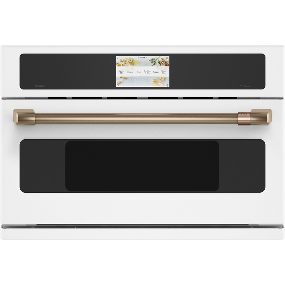 GE CAFÉ Range in White color showcased by Corbeil Electro Store