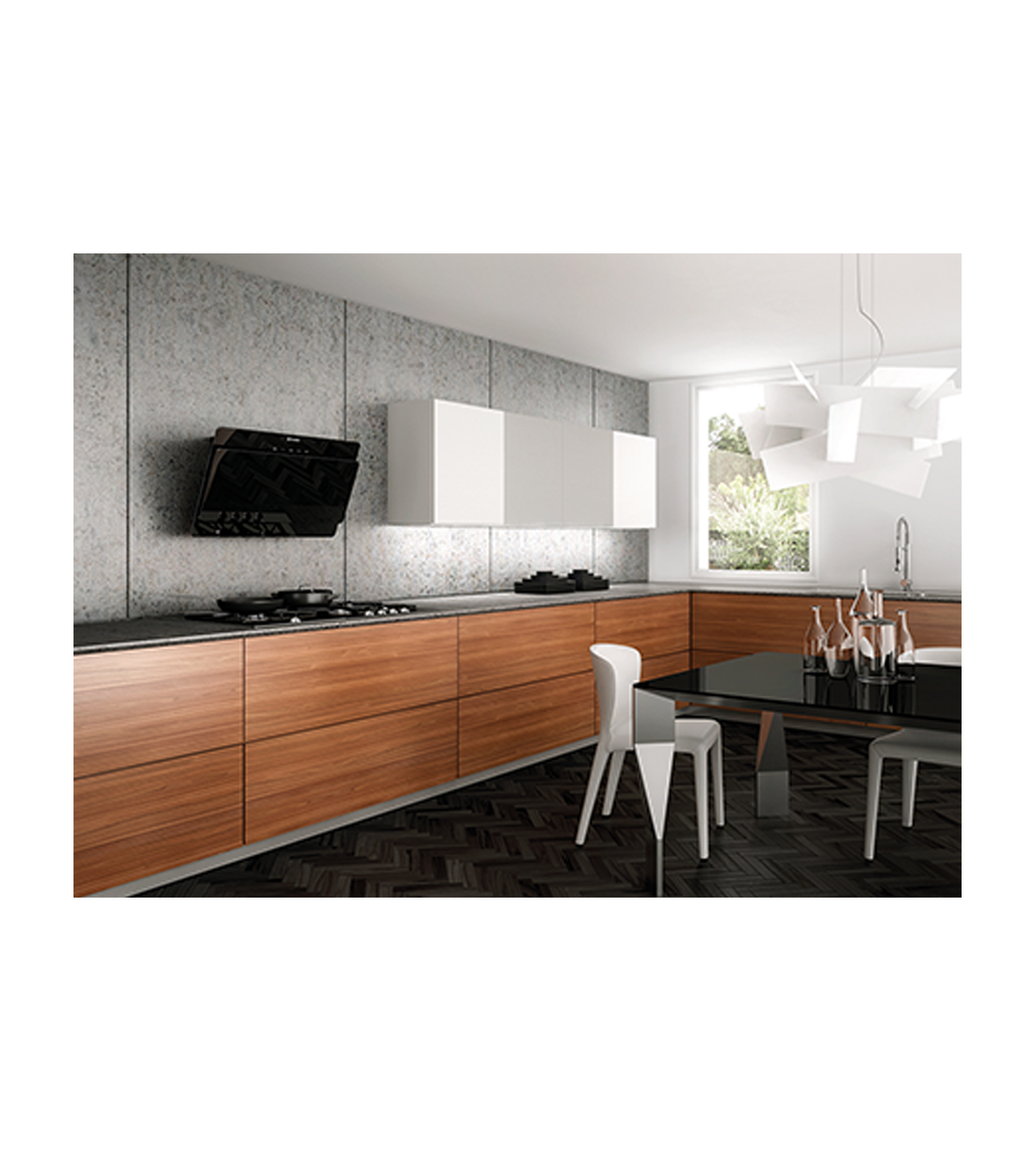 Faber Rangehood 36inch in Black color showcased by Corbeil Electro Store