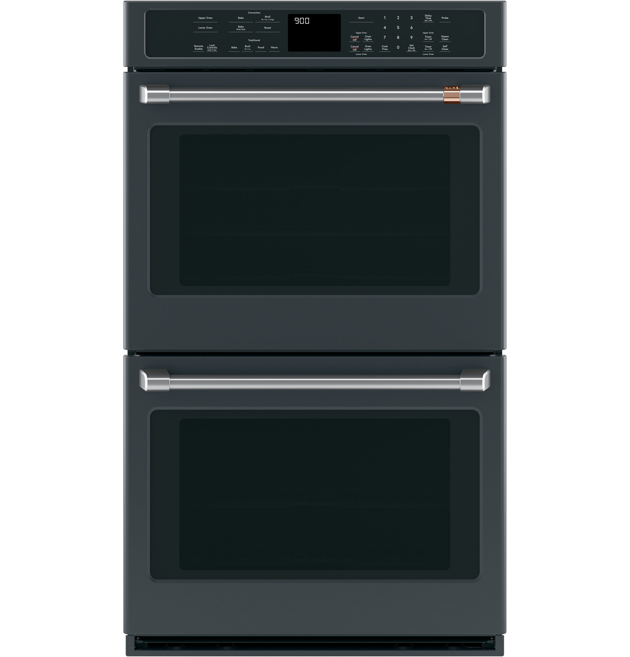 GE Café Wall oven 30 Black in Black color showcased by Corbeil Electro Store