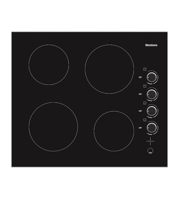 Blomberg Plaque de cuisson 24po en couleur Noir présenté par Corbeil Electro Store