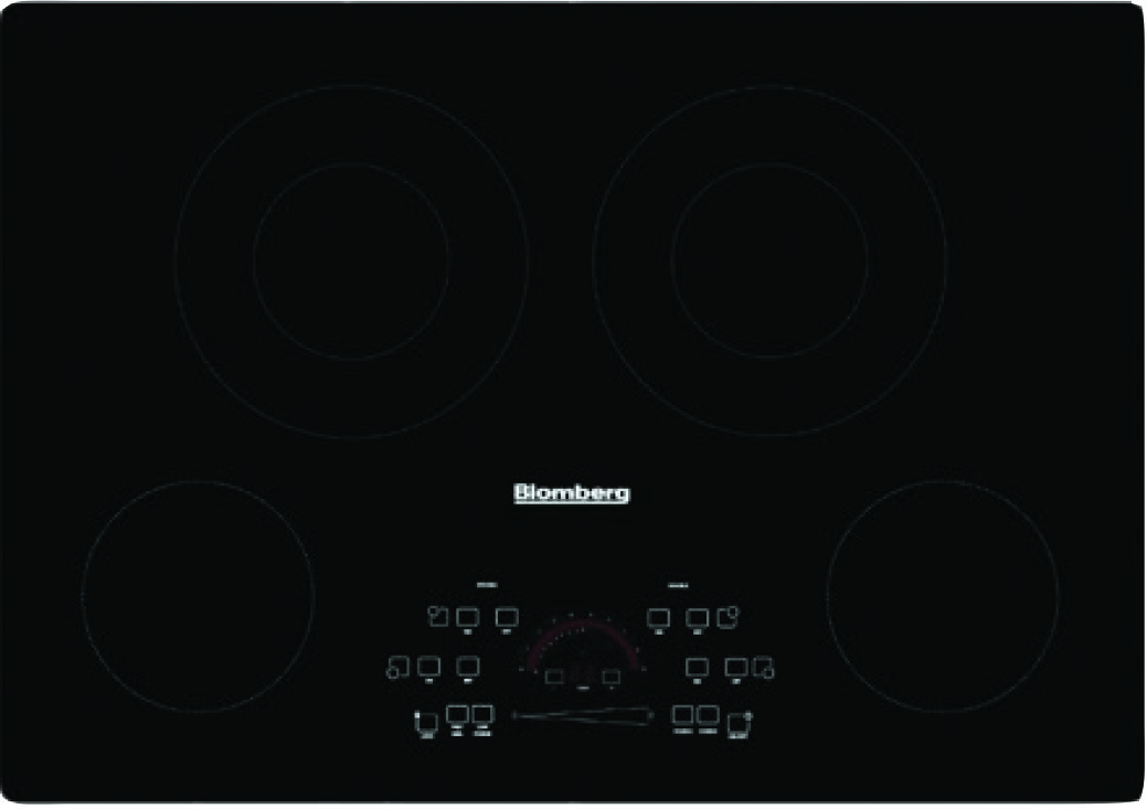 Blomberg Cooktop 30inch in Black color showcased by Corbeil Electro Store