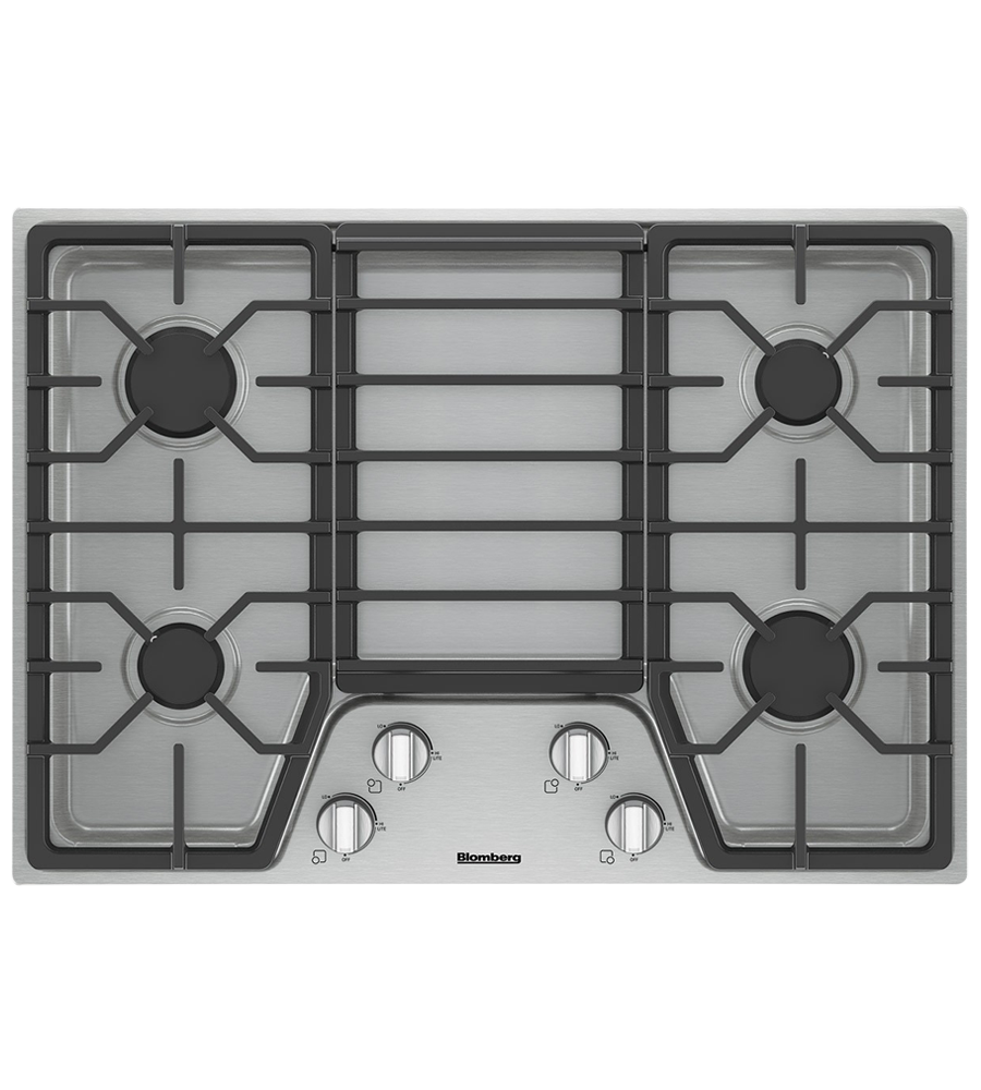 Blomberg Cooktop 30inch in Stainless Steel color showcased by Corbeil Electro Store