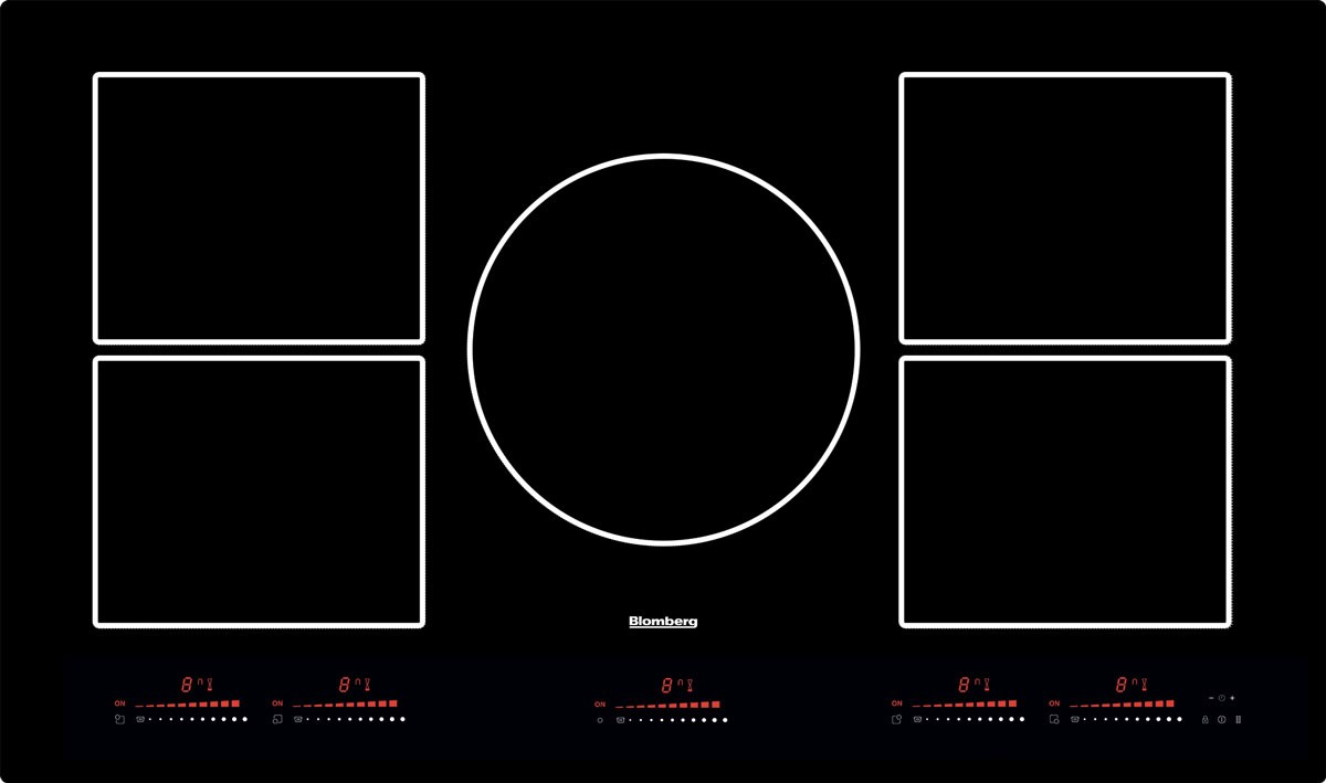 Blomberg Cooktop 36inch in Black color showcased by Corbeil Electro Store