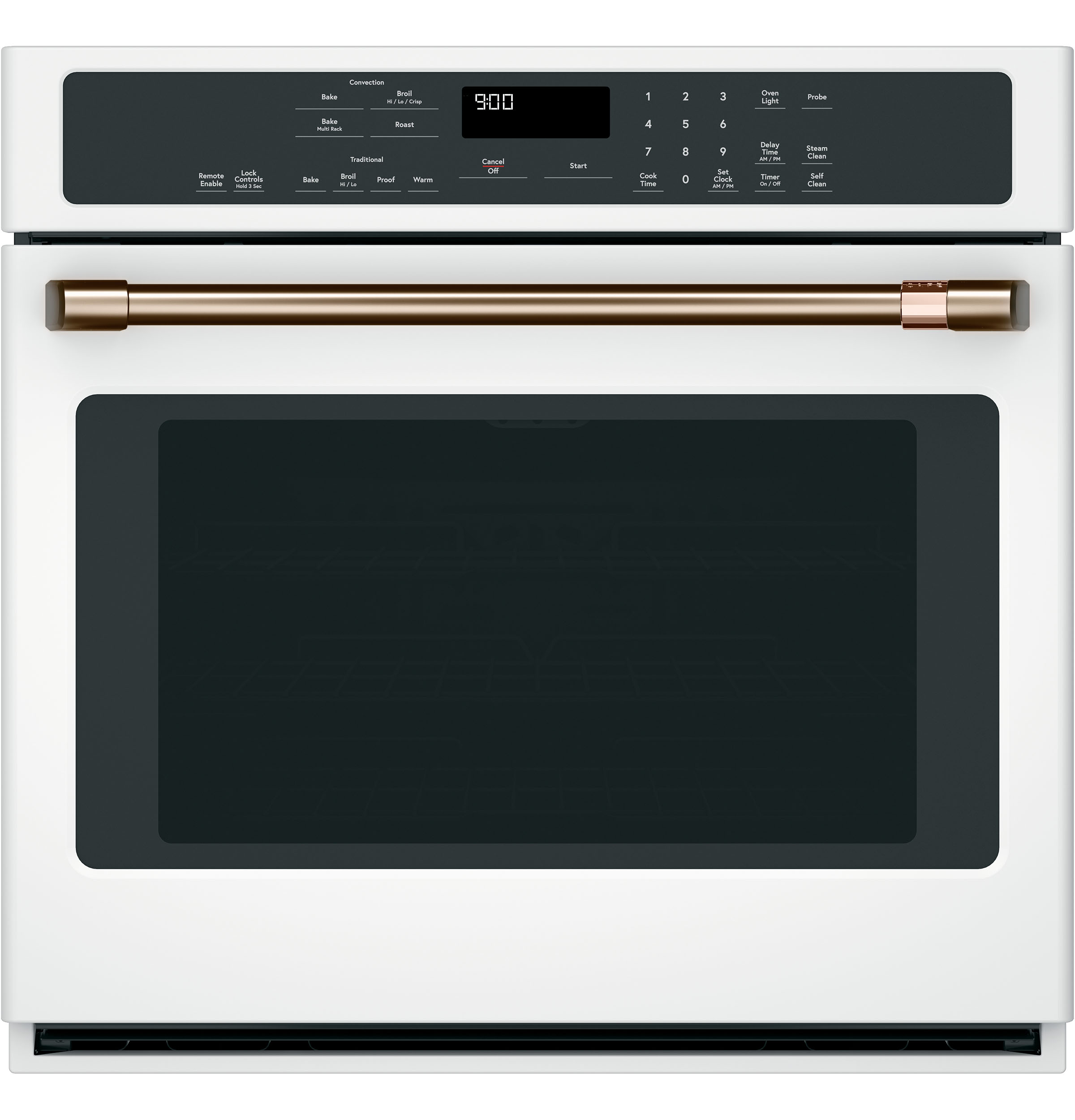 GE Café Wall oven 30 White in White color showcased by Corbeil Electro Store
