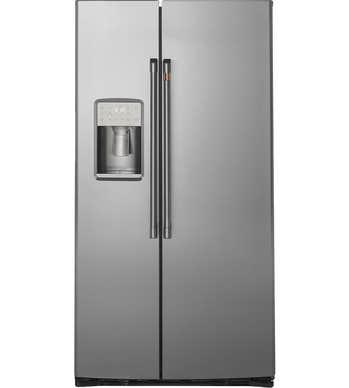 GE CAFE  Côte à côte Réfrigérateur en couleur Acier Inoxydable présenté par Corbeil Electro Store