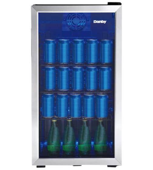Danby Réfrigération spécialisée DBC117A1BSSDB-6 en couleur Acier Inoxydable présenté par Corbeil Electro Store