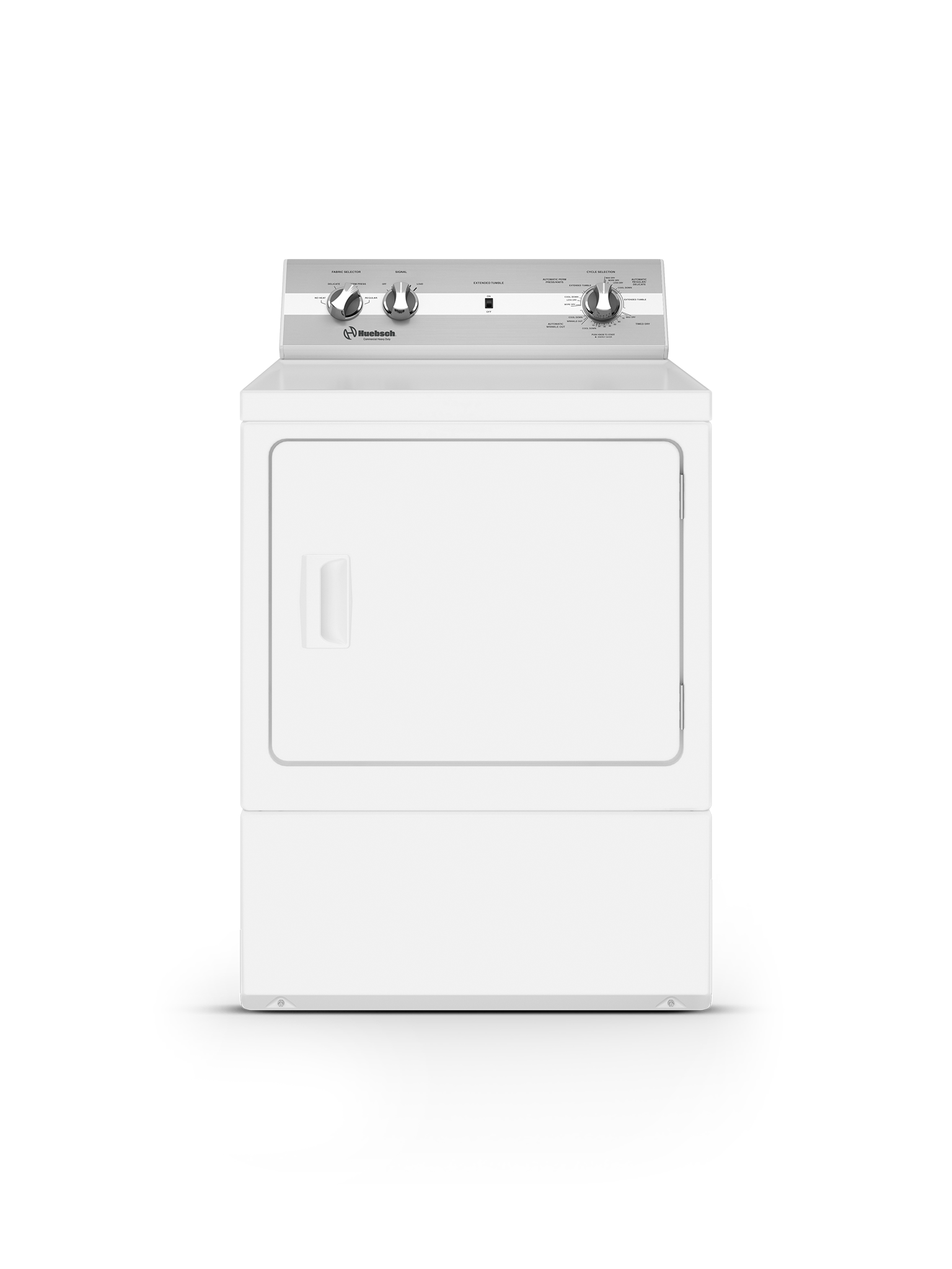 Huebsch Dryer in White color showcased by Corbeil Electro Store