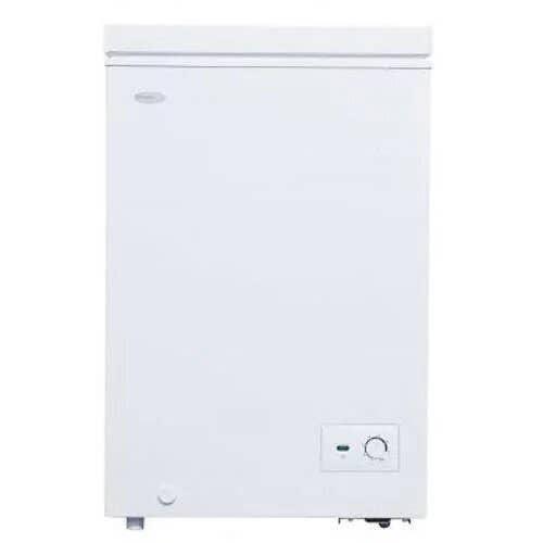 Danby Freezer 22 White DCF035B1WM in White color showcased by Corbeil Electro Store