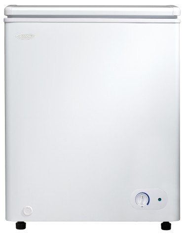 Danby Freezer 25 White DCF038A3WDB in White color showcased by Corbeil Electro Store