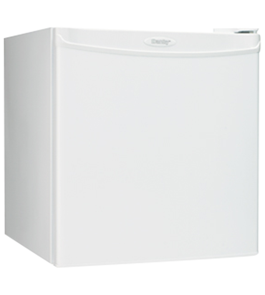 Danby Refrigerator 18 White DCR016A3WDB in White color showcased by Corbeil Electro Store
