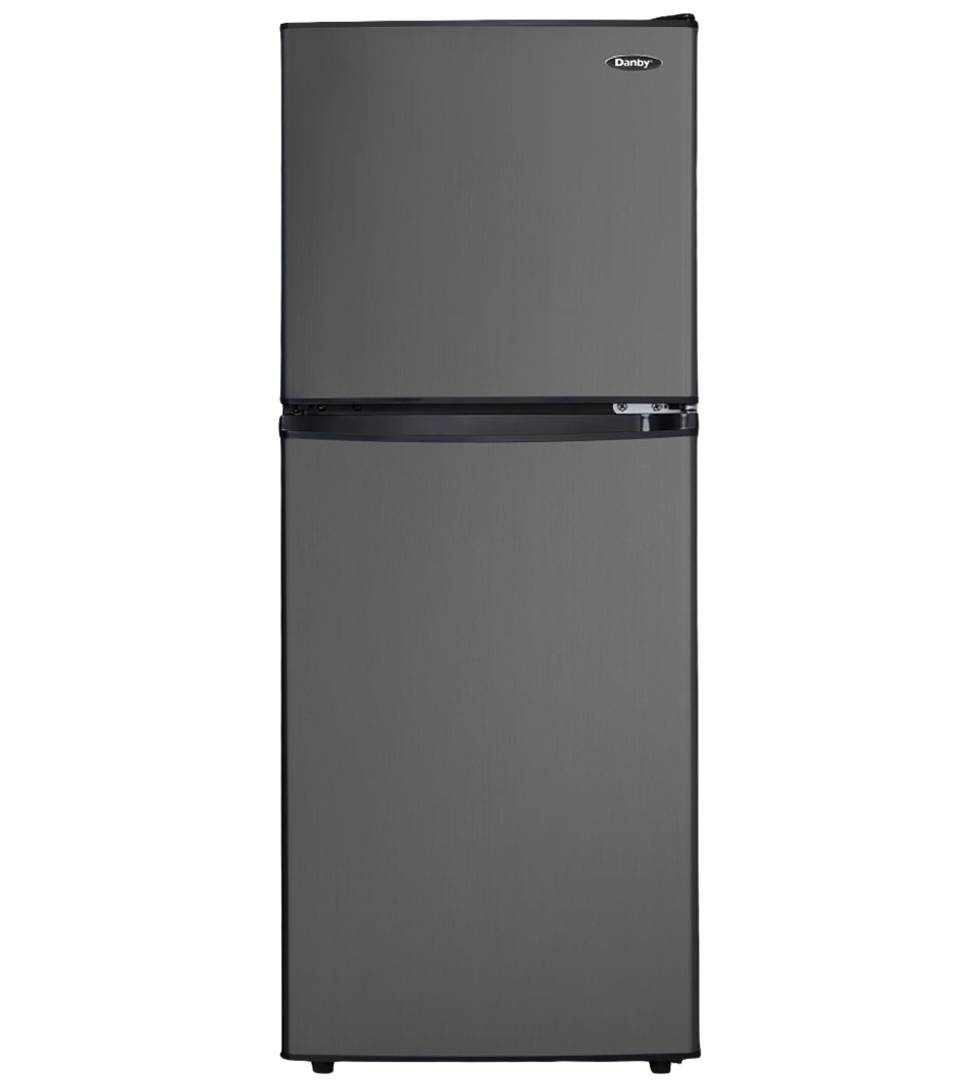 Danby Refrigerator 19 Brushed Aluminum DCR047A1BBSL showcased by Corbeil Electro Store