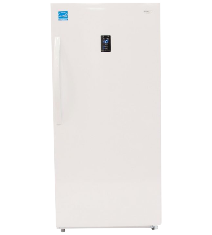 Danby Hybride Refrigerator 28 White DUF140E1WDD in White color showcased by Corbeil Electro Store