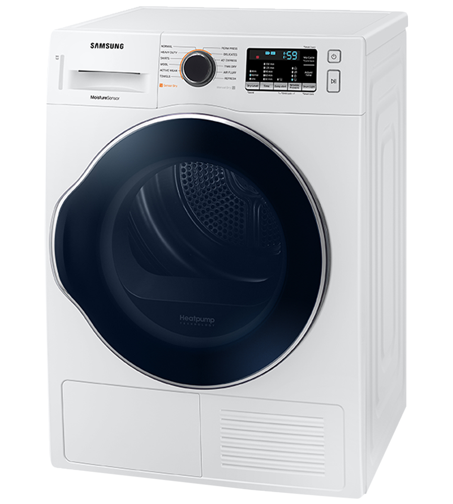 Samsung Dryer in White color showcased by Corbeil Electro Store