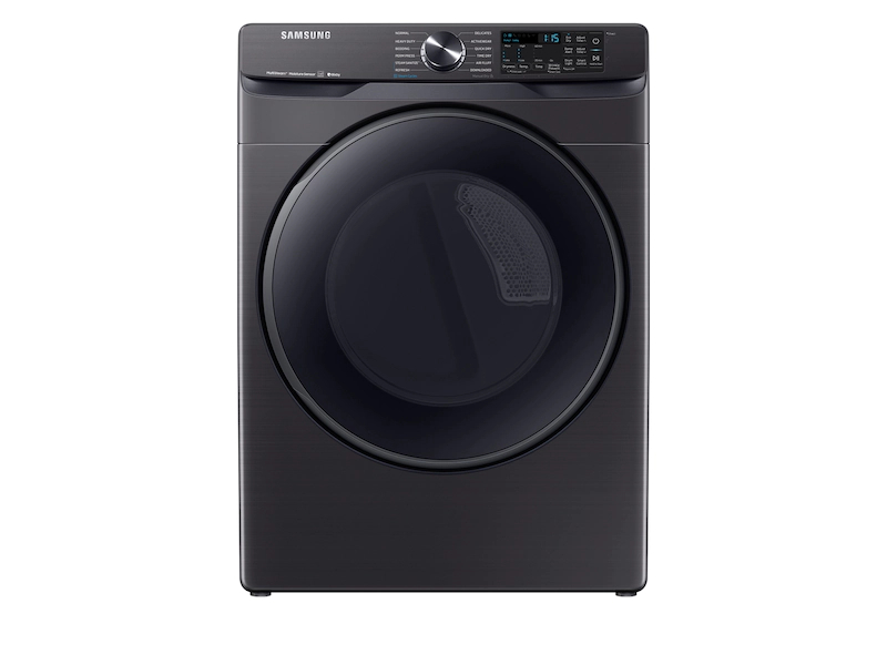Samsung Dryer in Black Stainless Steel color showcased by Corbeil Electro Store