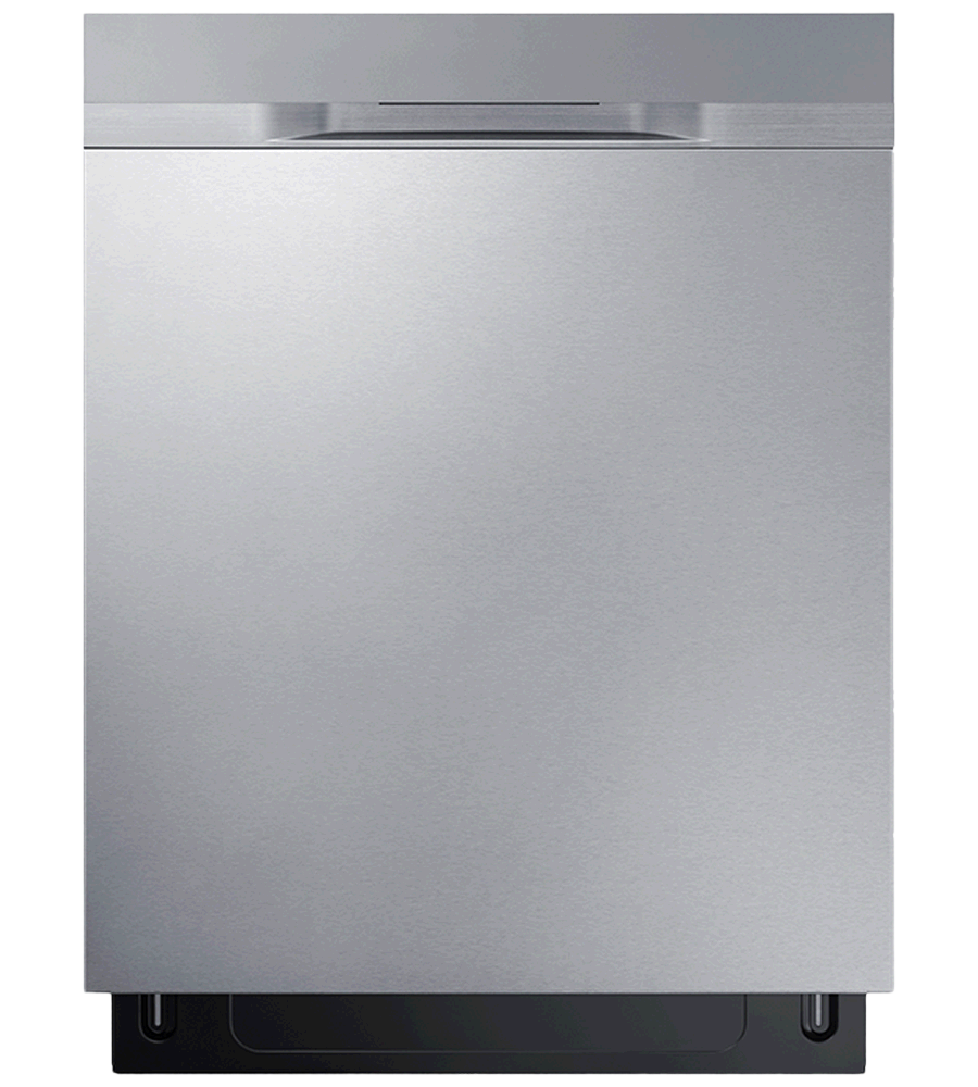 Samsung Dishwasher 24 DW80K5050U in Stainless Steel color showcased by Corbeil Electro Store
