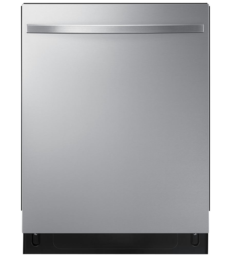 Samsung Dishwasher 24 DW80R5061U in Stainless Steel color showcased by Corbeil Electro Store