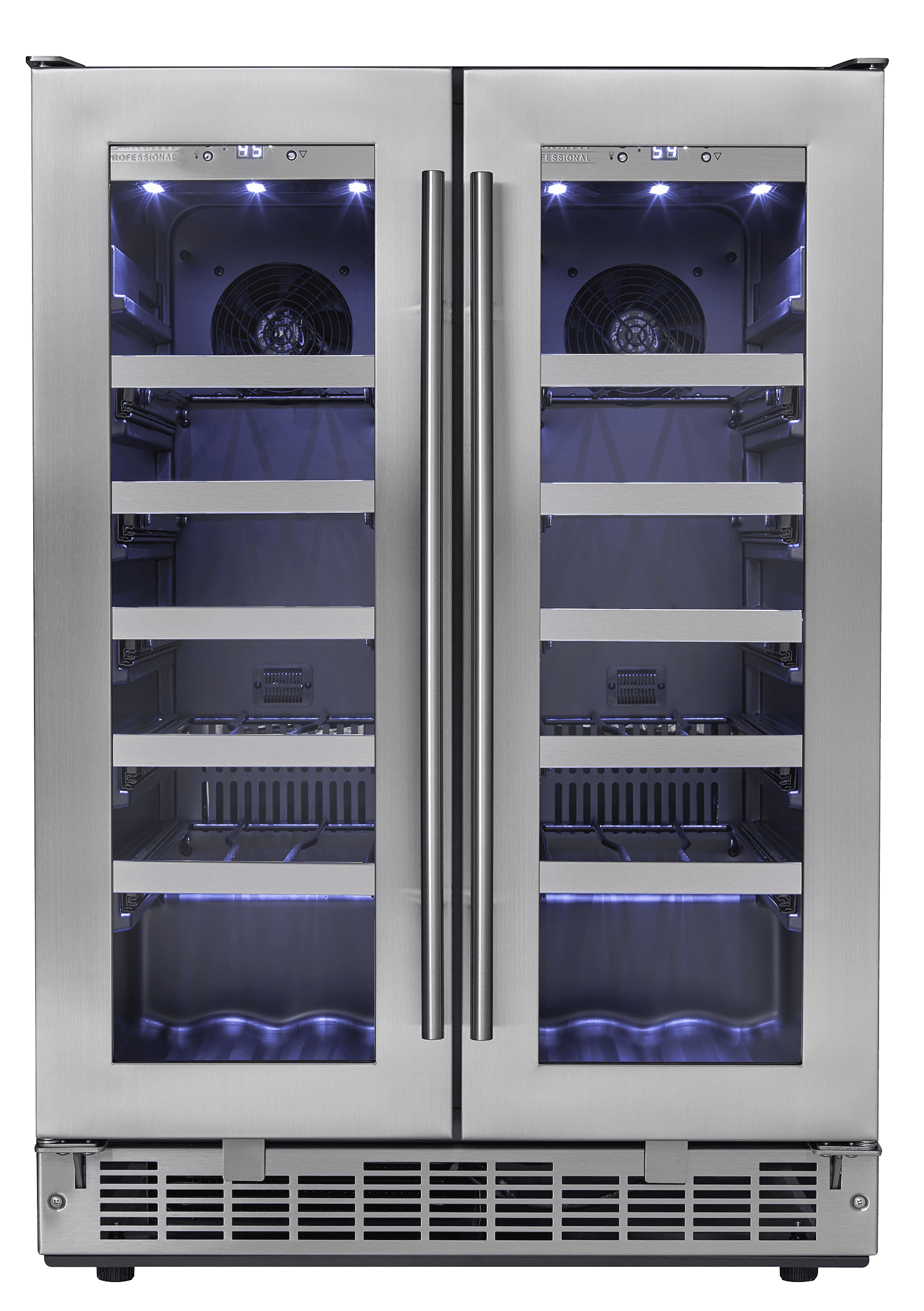 Danby Wine cellar in Black on Stainless Steel color showcased by Corbeil Electro Store