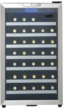 Danby Wine cellar 20 StainlessSteel DWC458BLS in Stainless Steel color showcased by Corbeil Electro Store