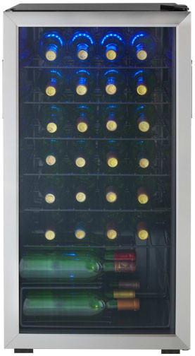 Danby Wine cellar 18 StainlessSteel DWC93BLSDB in Stainless Steel color showcased by Corbeil Electro Store