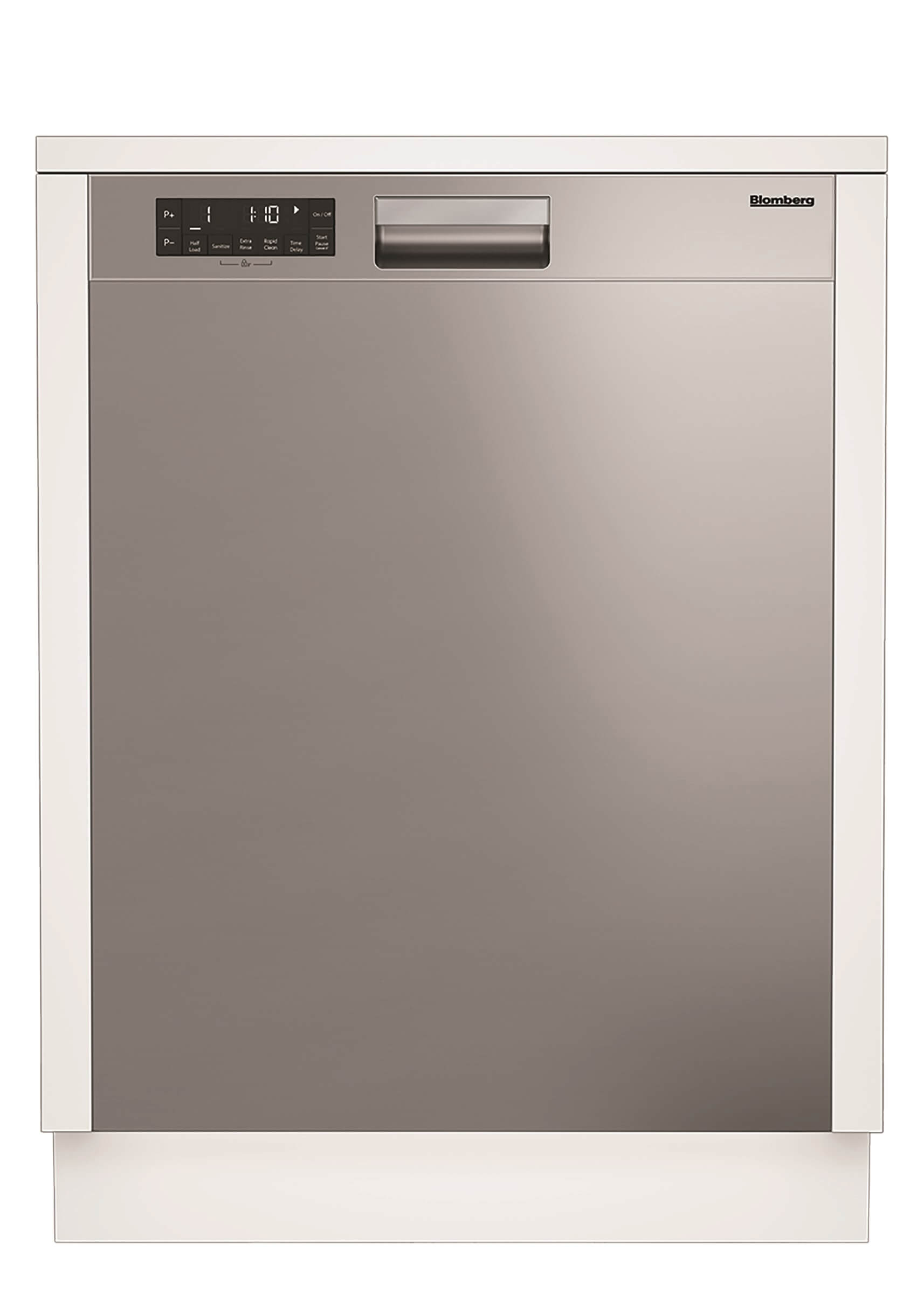 Blomberg Dishwasher DWT25504SS in Stainless Steel color showcased by Corbeil Electro Store