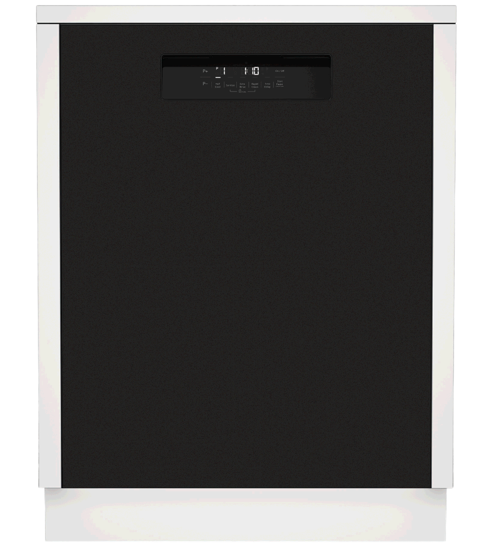 Blomberg Dishwasher 24inch in Black color showcased by Corbeil Electro Store