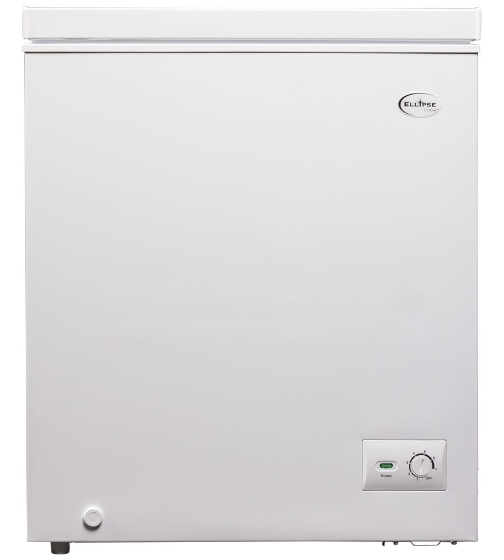 Ellipse Freezer 28 White in White color showcased by Corbeil Electro Store