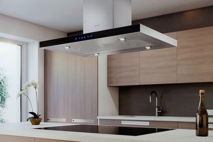 Elica Range hood 42 StainlessSteel EMG642S1 in Stainless Steel color showcased by Corbeil Electro Store