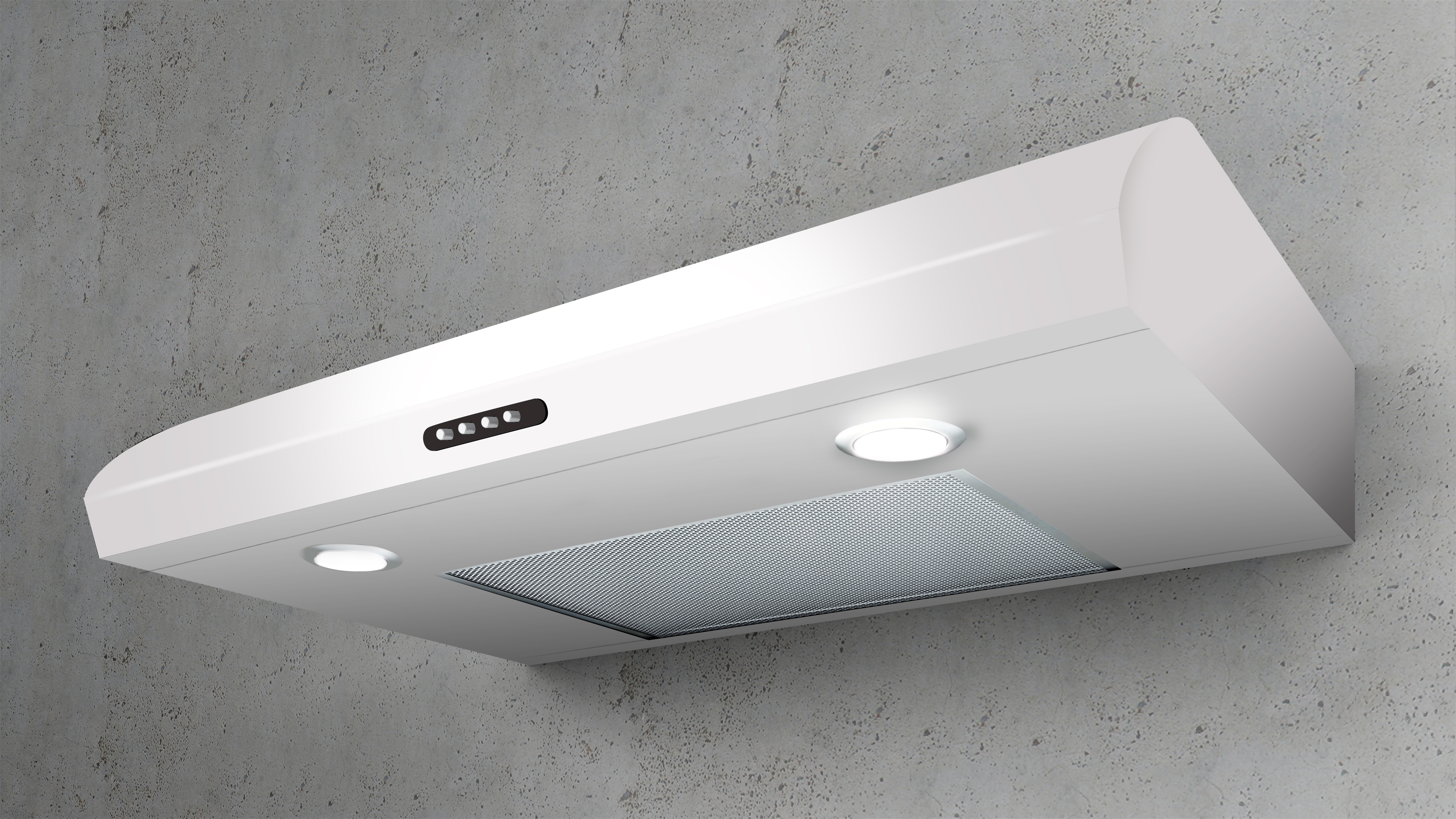 Elica Range hood 30 White ENM230WT in White color showcased by Corbeil Electro Store