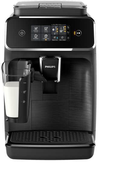 Philips Espresso machine 12 Black EP2230/14 in Black color showcased by Corbeil Electro Store