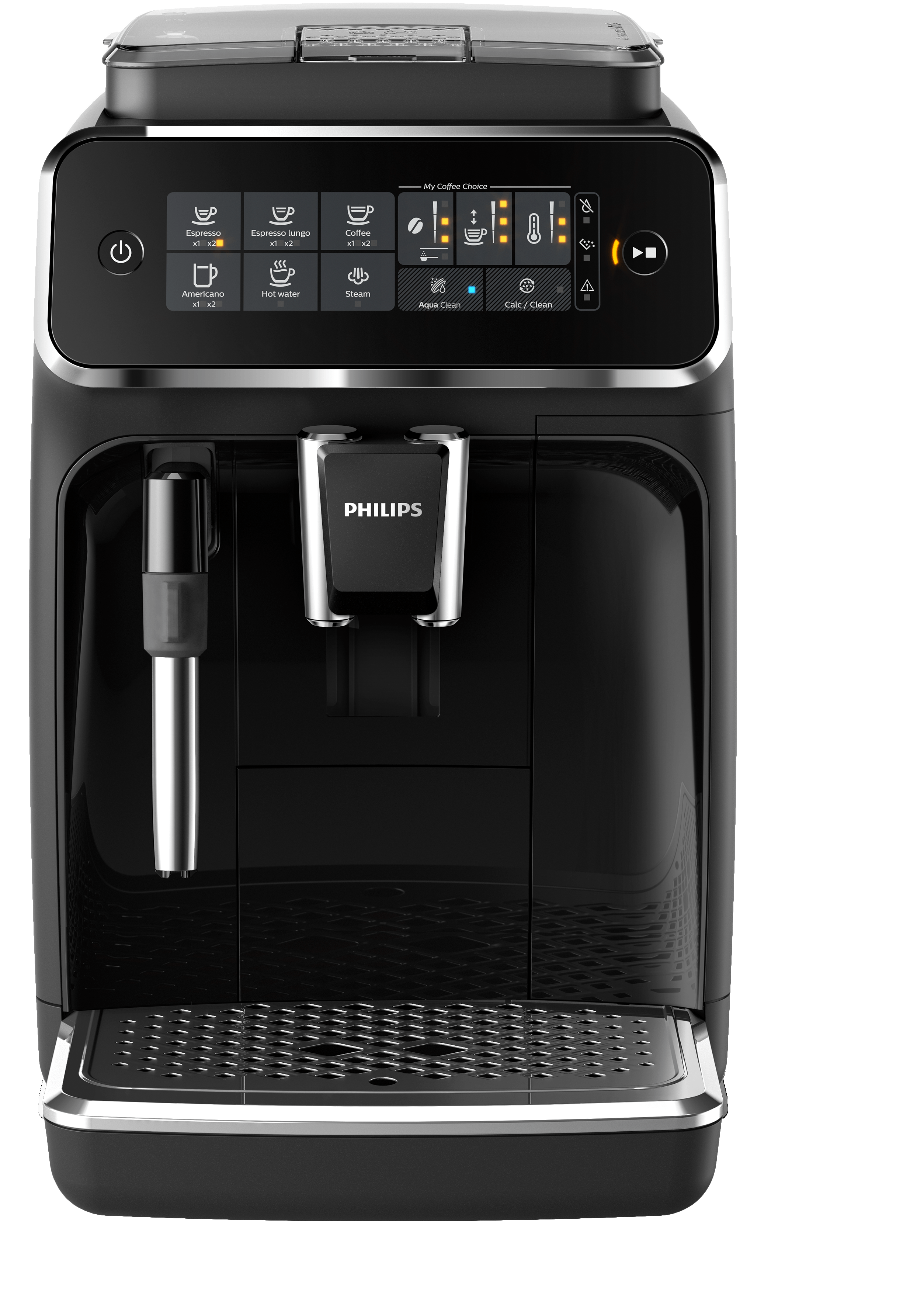 Philips Espresso machine 12 Black EP3221/44 in Black color showcased by Corbeil Electro Store