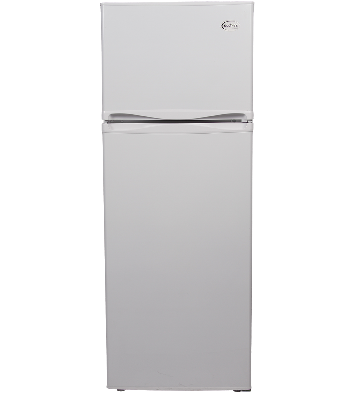 Ellipse Refrigrator in White color showcased by Corbeil Electro Store